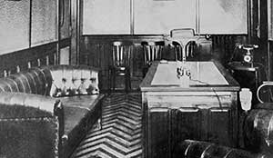 Foto storica degli interni dello Studio Furbatto