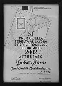 Premio della Fedeltà al lavoro per il progresso economico di Furbatto Immobili